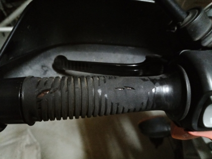 totally worn out handlebar rubber