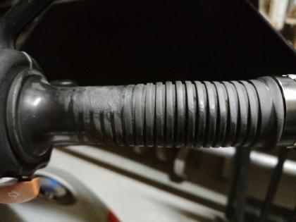 handlebar rubber got sticky